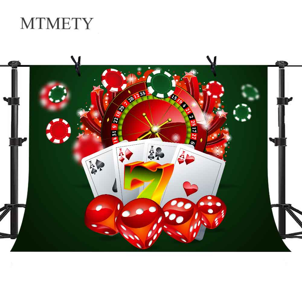MTMETY Casino Background Las Vegas Roulette Poker Dice Entertainment Party Photography Backdrops Photocall Photo Studio(China)