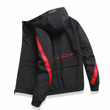 Men windbreaker Casual Spring Autumn Lightweight Jacket 2019 New Arrival Hooded Contrast Color Zipper up Jackets Outwear Cheap