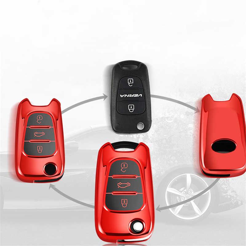 Obudowa kluczyka do samochodu TPU do Kia Ceed Picanto Sportage do hyundai i20 i30 ix35 obudowa kluczyka Protector breloczki do kluczy klucz zdalny