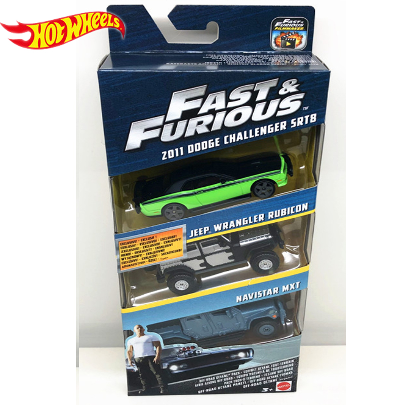 Genuine Hot Wheels Fast and Furious Series 3 Cars Dodge Charger Preferential Pack Kid Toys Boy Birthday Gifts FCG01 3