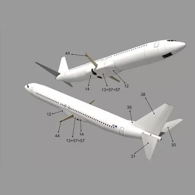 DIY Airplane Paper Model Papercraft Toy 1:100 Boeing Paper Model Aircraft Aircraft Handmade Origami Model 737 Toy Paper 3D P2J7 5