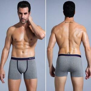Image 4 - 4pcs boxer shorts homem calcinha masculina boxer roupa interior de algodão para o sexo masculino casal sexy conjunto calecon tamanho grande lote macio