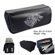 Real Papeleria 5 Anime Series School Spenciltudents Pu Large Capacity Double Zipper Pencil Case Stationery Boys Girls Fine