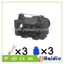 Бесплатная доставка, 5 комплектов, 3-контактный автомобильный водонепроницаемый соединитель жгута проводов, женская часть 357972763 357 972