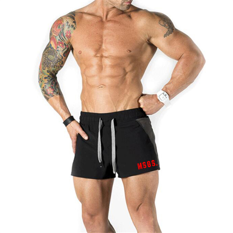 Fashion Brand Workout Gym Men Breathable Fitness Mens Bodybuilding Mesh Male Casual Shorts Comfortable Plus Size Sports Shorts