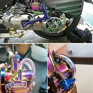 Image 5 - Alconstar  28 30 32 34mm New Colorful Motorcycle Carburetor Carburador with Power Jet 2T/4T Scooter ATV UTV Off Road Racing