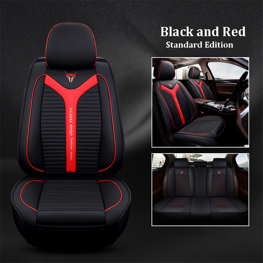 Luxury PU Leather 6D Car Seat Covers Automotive Breathable Perforated Car-styling Universal