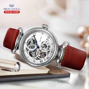 Image 5 - Seagull mechanical watch women fashion watch Leather strap Waterproof automatic watch Full hollow mechanical watch 811.11.6002L