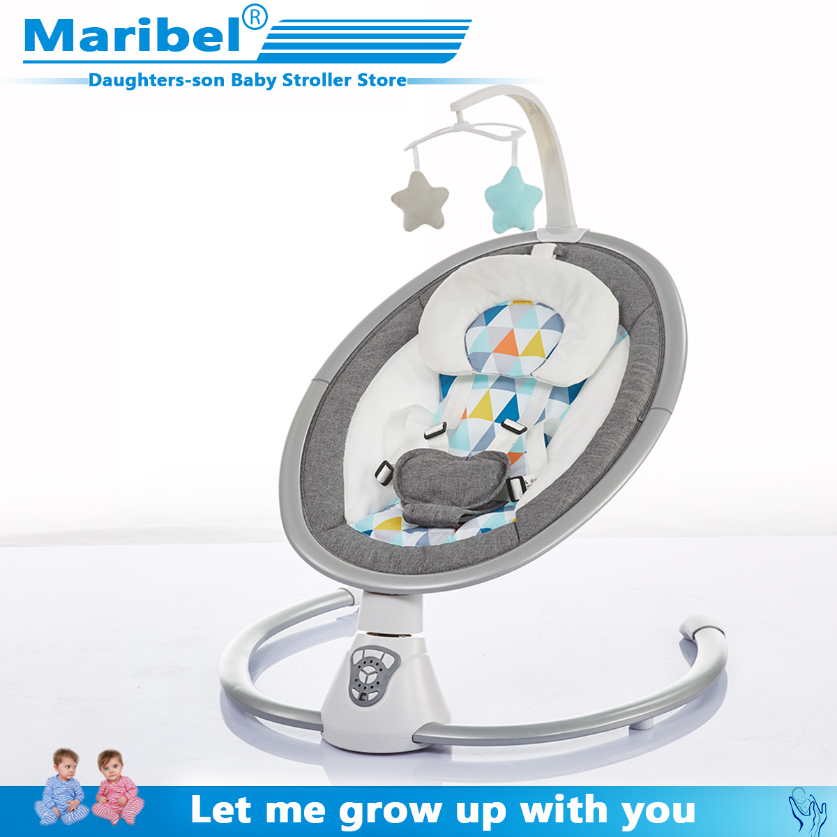 Safety Baby Rocking Chair 0-3 Baby Electric Cradle Rocking Chair Soothing The Baby's Artifact Sleeps Newborn Sleeping 403