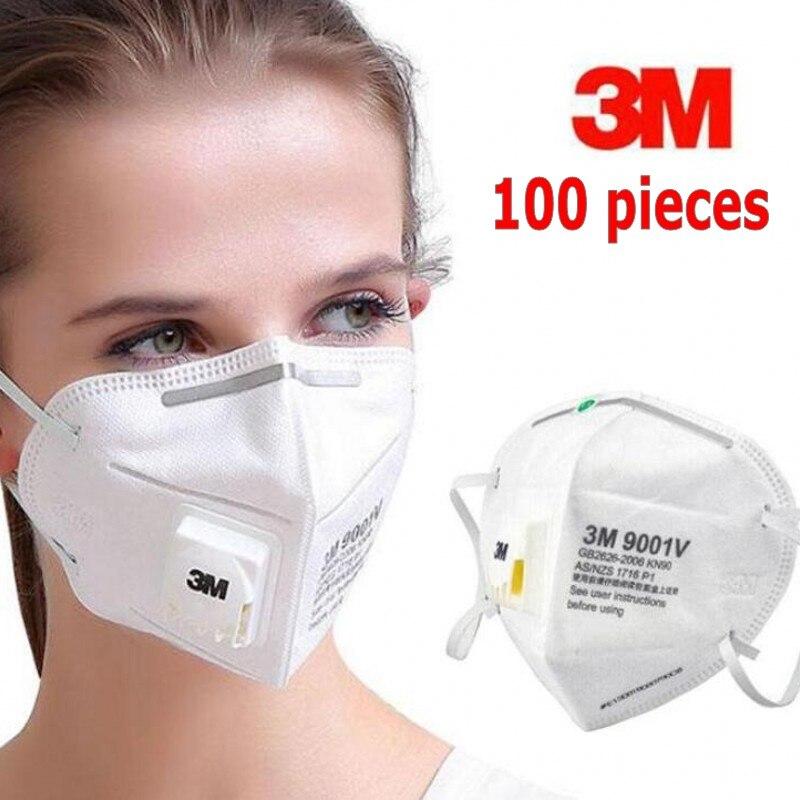 In Stock 3M 9502V 9501V 9001V 9002V Mask Safety Protective FFP2 FFP3 N95 Mask Sanitary Work Respirator Filter Mask Anti Virus