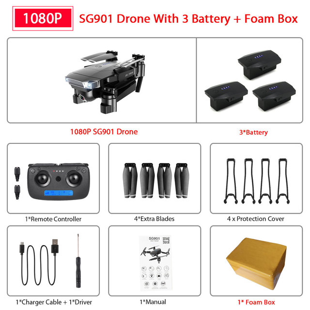 SG901 1080P 3B Foam