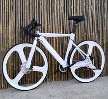 Rower szosowy bicicleta 700C * 23 rower szosowy mężczyzna i kobieta rower 18 prędkości hamulce tarczowe tanie tanio kalosse Unisex Ze stopu aluminium ze stopu aluminium Ze stopu magnezu 150-200 cm 16 kg Podwójne hamulce tarczowe 0 1 m3