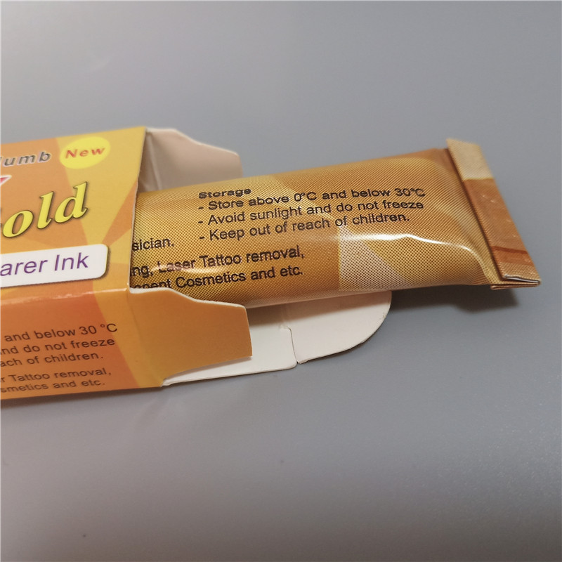 38% Gold Tattoo Cream Before Permanent Makeup Body Eyebrow Eyeliner Lips 10G Supplies