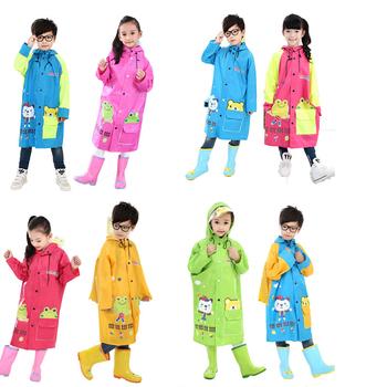 Żółty płaszcz przeciwdeszczowy dla dzieci dziewczyny płaszcz przeciwdeszczowy płaszcz przeciwdeszczowy z torbą płaszcz przeciwdeszczowy na zewnątrz tanie i dobre opinie OCQBI Odzież przeciwdeszczowa 99874 Single-osoby przeciwdeszczowa 190 t nylon fabric TOUR Chłopcy Uniwersalny Chlidren