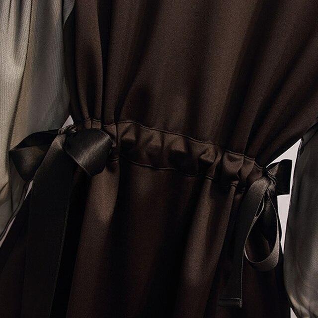 Large Plus Size L- 5XL Fashion Sport Dress Women Contrast Color Long Sleeve Autumn Bodycon A Line Dress Drawstring Sportwear 5