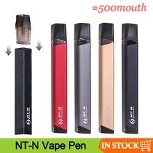 كامل شحن 500 الفم NT N طقم سيجارة إلكترونية على شكل قلم 400mAh نظام جراب مع 1.2 مللي خرطوشة جراب Vape عدة السجائر الإلكترونية VS minifit