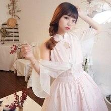 Милое платье в китайском стиле в стиле лолиты платье Чонсам для девочек на каждый день милое винтажное платье в викторианском стиле в готическом стиле lolita jsk loli