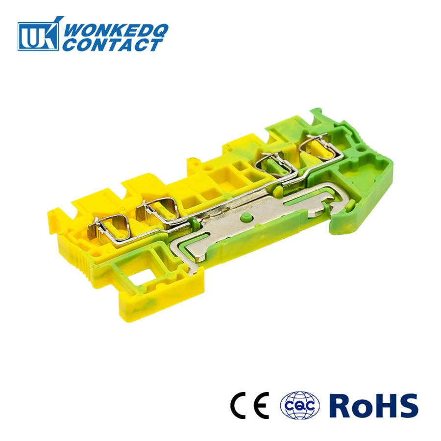 10Pcs ST 2 5QUATTRO PE Instead of PHOENIX CONTACT Connectors Return Pull Type Four Conductor Spring Ground Terminal Blocks in Terminal Blocks from Home Improvement