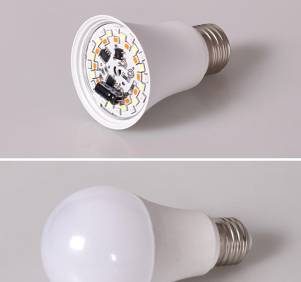 FOXGBF E27 RGBW LED Bulb Lights 4W 10W 15W 110V 220V Lampada Changeable Colorful RGB LED Lamp With IR Remote Control  (6)