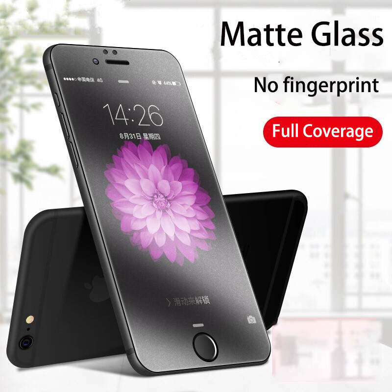9H Hard Tempered Glass For IPhone X XS XR 11 Pro Max No Fingerprint Matte Phone Glass For IPhone SE 6 6S 7 8 Plus  Full Cover