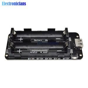 Image 4 - Dual 18650 Lithium Batterie Schild V8 3V1A 5V 3A Micro USB Power Bank Batterie Lade Modul Für Raspberry Pi wifi ESP8266 ESP32