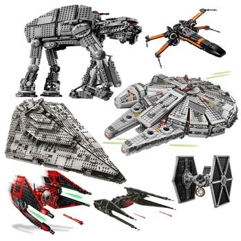 NOVEDAD DE CONJUNTO DE Star Wars 10900, luchador Imperial del milenario, Skywalker, Nave espacial Falcón, miniaturas de bloques de construcción, juguetes para niños, regalos