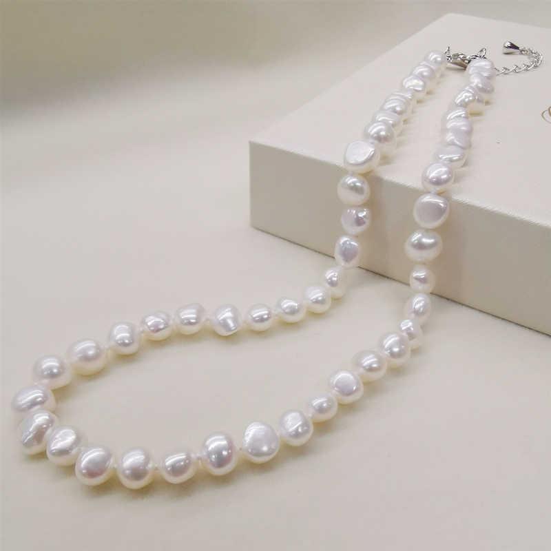 DAIMI naturalna perła słodkowodna naszyjnik w stylu klasycznym czarny/biały/różowy/purpurowe perły naszyjnik dla kobiet