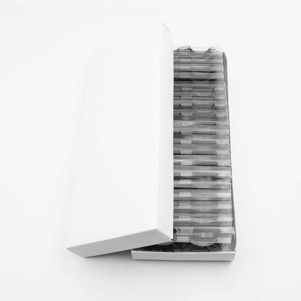 40 пар/лот visofree 25 мм ресницы Макияж 3d норковые ресницы 100% Безжалостное ручное удлиннение ресницы пушистые норковые ресницы E84