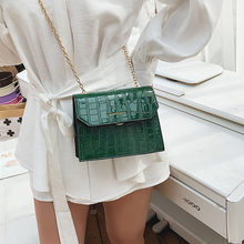 JIULIN Summer bag 2019 new crocodile pattern slung small bag women's chain Hong Kong Feng Sen single shoulder bags(China)