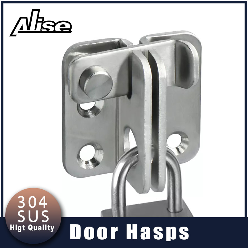 Alise Stainless Steel Cabinet Lock Hasp Latches Sliding Door Simple Convenience Lock For Home Hotel Door Security Hardware