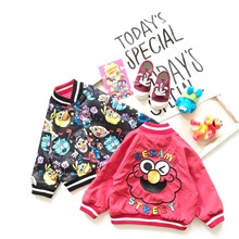 Tonytaobaby Autumn New Boys and Girls Children's Clothing Cartoon Cute Double-sided Children's Coat  Jacket  Girls Coat