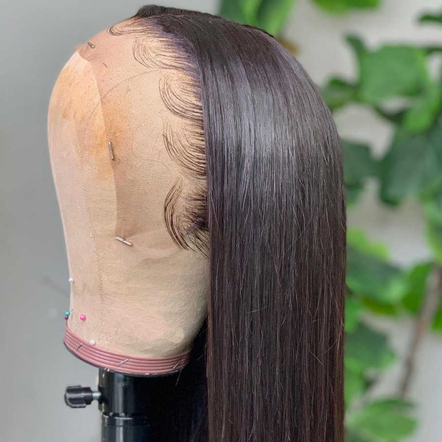 Renda Frontal Rambut Manusia Wig Sutra Top Rambut Manusia Wig 13*4 Peru Tubuh Gelombang Renda Frontal Wig Non remy Rambut 10-26 Inci