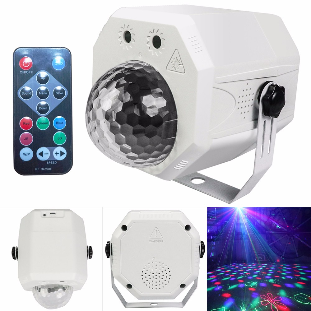 Magic Ball Laser Light Stage Effect Projector Lights Voice Control Disco/DJ/Club/Bar/KTV/Christmas Party Light USB Interface