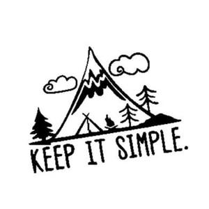 Black/Sliver Interesting Camping In Mountain Keep It Simple Car Sticker Vivid Window Decal Vinyl C361
