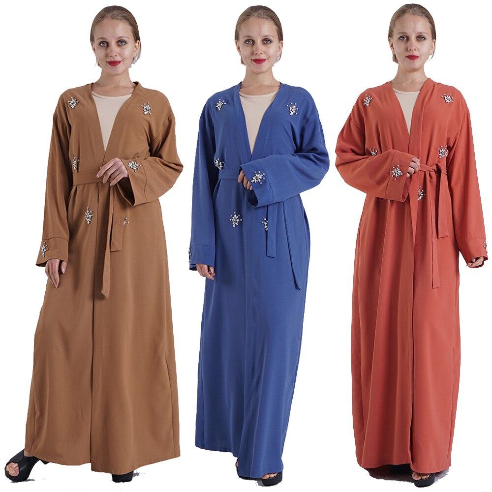 Open Abaya Dubai Turkey Kimono Cardigan Hijab Muslim Dress Kaftan Ramadan Caftan Islamic Clothing Abayas For Women Robe Musulman