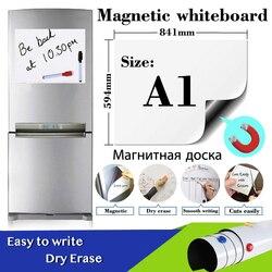 A1 размер мягкая магнитная доска для детей сухой ластик белая доска наклейки на стену и холодильник Школа Офис памятки доски календарь