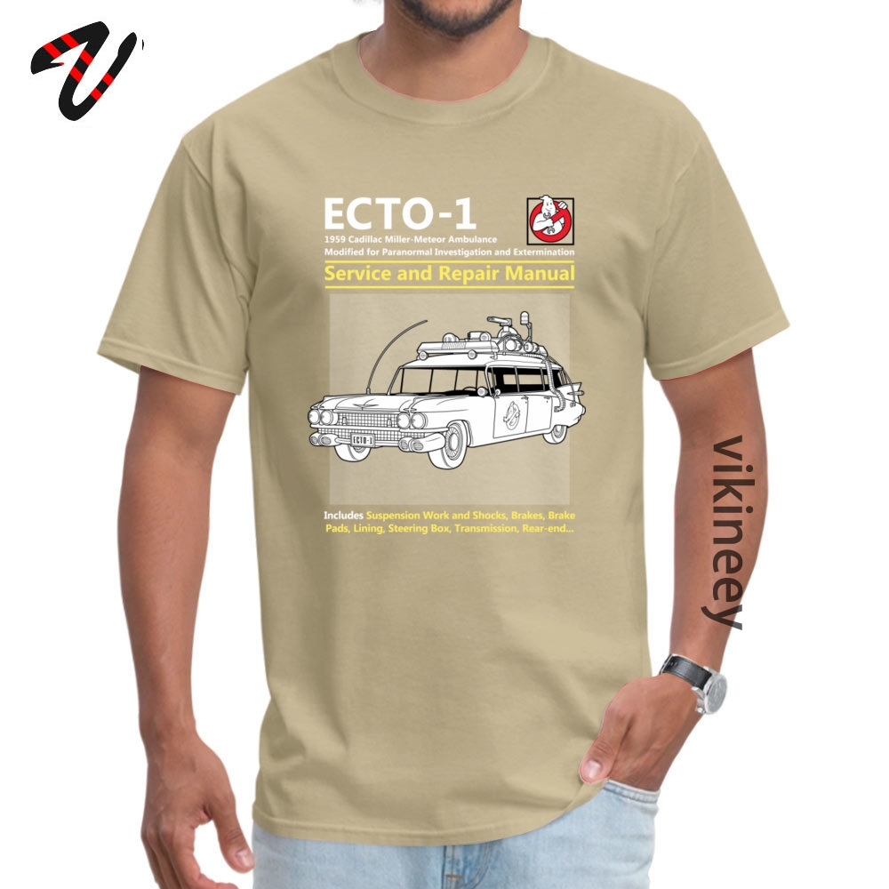 ECTO_Service_ Tshirts Normal Short Sleeve Brand Round Neck 100% Cotton Tops & Tees Crazy Tops Tees for Men Summer/Autumn ECTO-1_Service_4165 beige