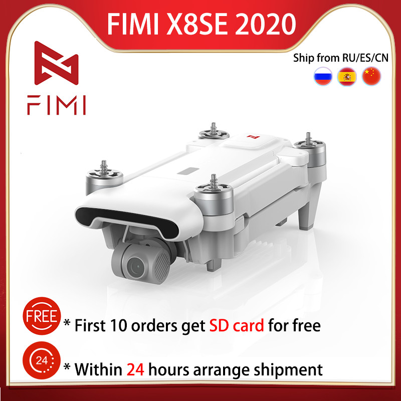 FIMI X8 SE 2020 Camera Drone Quadcopter RTF Drone RC 8KM FPV 3-axis Gimbal 4K Camera GPS 35mins Flight Time RC Drone