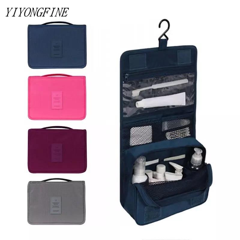 YIYONGFINE Travel Cosmetic Bag Women Makeup Bags Toiletries Organizer Waterproof Storage Neceser Hanging Bathroom Wash Bag