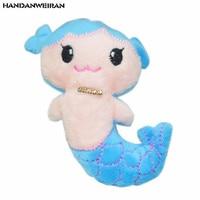 HANDANWEIRAN 1pcs 10cm creative mermaid plush doll high-grade pp cotton padded decorative pendant for boys & girls holiday gift