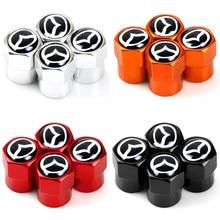 Novo 4 pçs auto roda pneu válvula caule tampas capa para mazda 2 mazda 3 ms mazda 6 CX-5 cx5 artzma 6 acessórios do carro