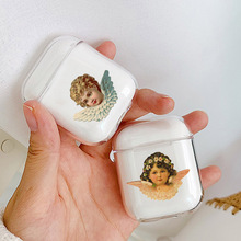 LAUGH LIFE Angels Novelty Fundas Soft Earphone Case For Clear Airpods Cover Protective Wireless