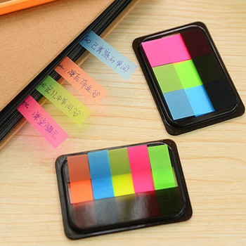 NNRTS New Kawaii Mini Memo Pad Sticky Marker creative Stationery Color Sticker Post Notes Paper Bookmark School Office Supplies image