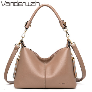 Image 1 - Leather Small Hobos Luxury Handbags Women Bags Designer Handbags High Quality Crossbody Bags For Women Shoulder Bag Sac A Main