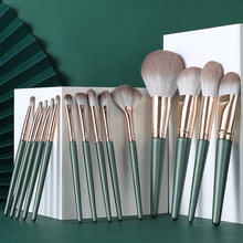 Набор профессиональных кистей для макияжа lemoda 14 шт зеленые
