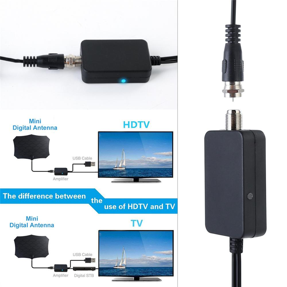 TV Antenna Amplifier Signal Booster For Cable TV Aerial Adapter USB Low Noise Easy Installtion Digital HD DVB-T2 ATSC Wholesaler