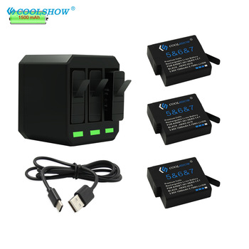 AHDBT501 Battery for GoPro Hero 5 Gopro 6 7 501 601 701 For Go Pro 7 6 5 Hero5 1500mAh Camera Batteries Charger аквабокс gopro aadiv 001 для hero5 6 black 60м