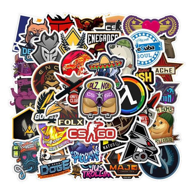 50Pcs Gioco CS ANDARE Counter-Strike Adesivi Chitarra Album Dei Bagagli Del Computer Portatile Tavola Da Surf Skate Bicicletta Frigo Sticker Decal 2