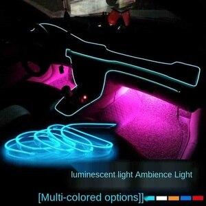 Image 3 - 5m auto innen zubehör atmosphäre licht EL kalt licht und USB DIY dekoration dashboard konsole auto FÜHRTE umgebungs licht