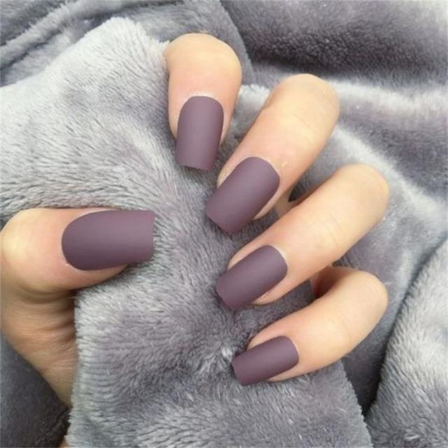 LEMOOC 8ml Matte Top Coat Color UV Gel Nail Polish Gray Series Semi Permanent Soak Off UV Gel Varnish DIY Nail Art Gel Paint 2